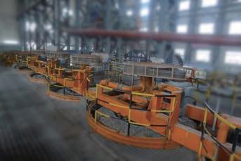 Высокоэффективная энергосберегающая круглая флотомашина