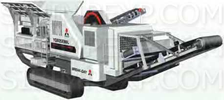 Гусеничная мобильная дробильная установка с щёковой и роторной дробилкой