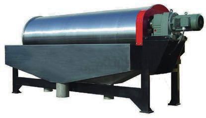 Магнитный барабанный сепаратор на постоянных магнитах